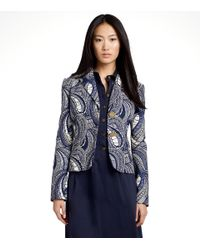 Tory Burch | Blue 'erica' Jacket | Lyst