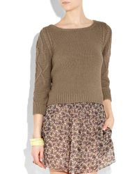 Vanessa Bruno Athé - Brown Knitted Cotton Sweater - Lyst