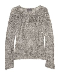 VINCE | Gray Open-knit Cotton-blend Sweater | Lyst