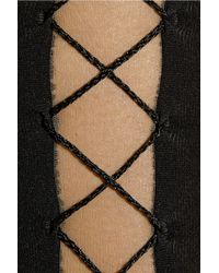 Wolford - Black Artiste Lace-up Tights - Lyst