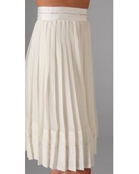 Club Monaco | Natural Melany Skirt | Lyst