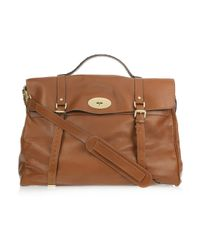 Mulberry | Brown Oversized Alexa Leather Weekend Bag | Lyst