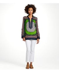 Tory Burch - Blue Tory Tunic in Navy Giverny - Lyst