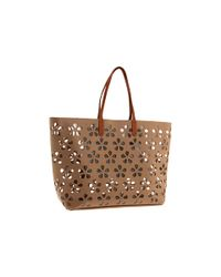 Furla | Brown D-light Shopper Tote | Lyst