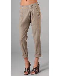 VINCE | Natural Asymmetrical Linen Pants | Lyst