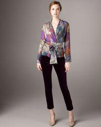 Etro | Purple Velvet Pants | Lyst