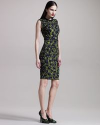 Givenchy | Black Pansy-print Jersey Dress | Lyst