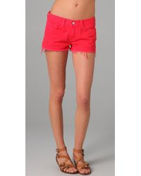 J Brand | Red Low Rise Cutoff Shorts | Lyst
