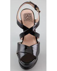 Pour La Victoire - Black Hiro Platform Sandals - Lyst