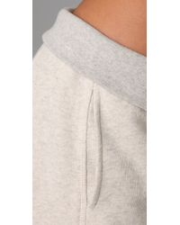 T By Alexander Wang | Gray Folded Over Waistband Sweatpants | Lyst