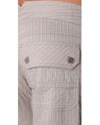 Georgie | Gray St. Barts Metallic Stripe Pants | Lyst