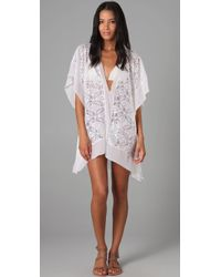 Nightcap - White Jungle Lace Caftan - Lyst