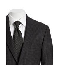John Varvatos | Black Pin Dot Striped Wool 2-button Bedford Suit with Flat Front Pants for Men | Lyst