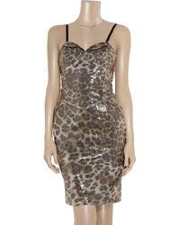 Vivienne Westwood Red Label | Multicolor Sequined Leopard-print Bustier Dress | Lyst