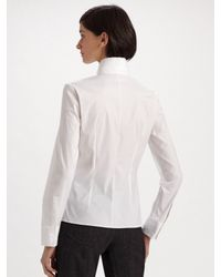 Akris - White Cotton Piqué Knit Jacket - Lyst