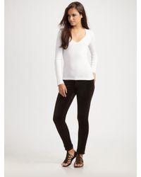 J Brand | Brown 901 Low-rise Skinny Velvet Jeans | Lyst