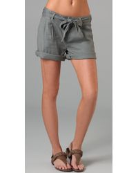 Genetic Denim | Gray The Bella Pleated Shorts | Lyst
