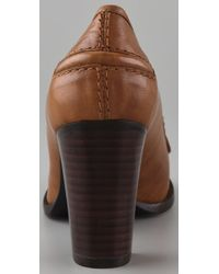 Marc By Marc Jacobs - Brown High Heel Penny Loafers - Lyst