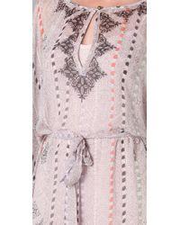 Twelfth Street Cynthia Vincent - Pink Flutter Caftan Dress - Lyst