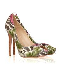 Alexander McQueen | Animal Peep-toe Snakeskin Pumps | Lyst