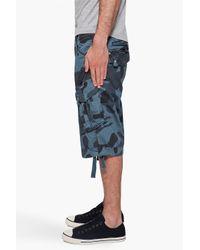 G-Star RAW | Blue Laundry Camo Rovic Shorts for Men | Lyst