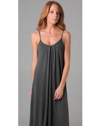 Lanston - Gray Knit Maxi Dress - Lyst
