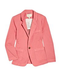 Current/Elliott | Pink The Academy Cotton-twill Blazer | Lyst