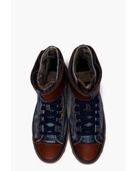 DIESEL | Blue Expoband Sneakers for Men | Lyst