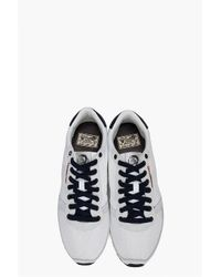 DIESEL - Great Era Pass On Sneaker in White/twilight Blue for Men - Lyst