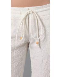 Georgie - White St. Barts Pants - Lyst