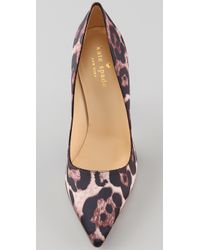 kate spade new york - Multicolor Licorice Satin Pumps - Lyst