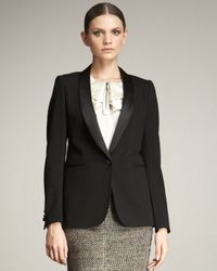 Lanvin | Black Tuxedo Jacket | Lyst