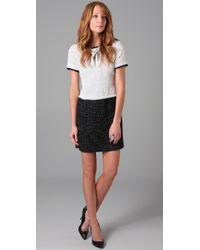 Markus Lupfer | Black Claudia Two-tone Tweed Mini Dress | Lyst