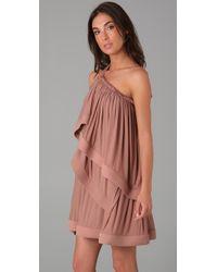 Plein Sud | Pink Asymmetrical Tiered Dress | Lyst