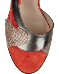 Reed Krakoff - Brown Snakeskin and Leather Sandals - Lyst