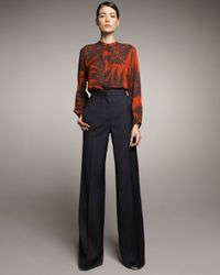 Stella McCartney | Blue High-waist Wide-leg Pants | Lyst