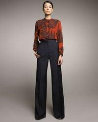 Stella McCartney - Blue High-waist Wide-leg Pants - Lyst
