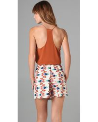 Tibi - Brown Racer Back Camisole - Lyst