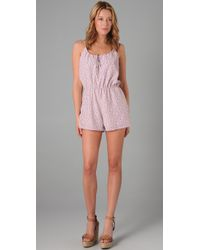 Torn By Ronny Kobo | Pink Floral Romper | Lyst