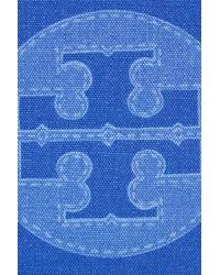 Tory Burch - Blue Trompe Loeil Tory Canvas Tote - Lyst