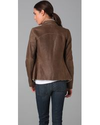 Vince - Brown Cascade Shearling Jacket - Lyst