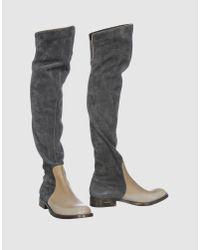 Brunello Cucinelli | Gray Boots | Lyst
