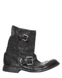Casadei | Black Side Zip Nappa Biker Boots | Lyst
