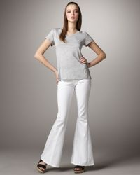 Citizens of Humanity | White Angie Santorini Bell-bottom Jeans | Lyst
