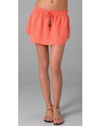 Dallin Chase | Red Tie Waist Skirt | Lyst