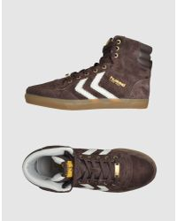 Hummel | Brown High Top Trainer for Men | Lyst
