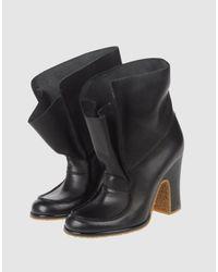 Maison Margiela | Black Ankle Boots | Lyst