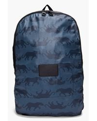 Marc By Marc Jacobs | Blue Panther Print Backpack for Men | Lyst