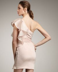Notte by Marchesa | Pink One-shoulder Cascading Ruffle Dress | Lyst