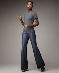 PAIGE | Blue Bentley Hanalei Wide-leg Jeans | Lyst